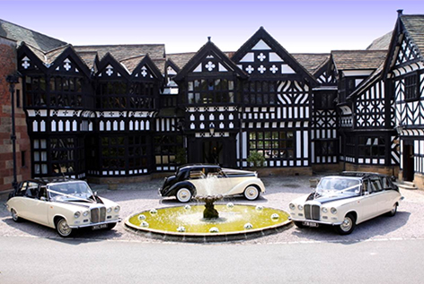 Bridal Cars outside Hillbark Hotel, Royden Park, Wirral